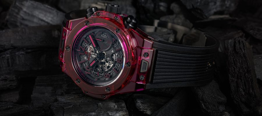 Hublot Big Bang Unico Sapphire Red Uhren Ref. 411.JR.4901.RT